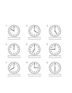 Nauka zegara wskazówkowego - napisz godzinę do drukowania Clock Worksheets, Math For Kids, Math Equations, Teaching, Chinese, Therapy, Education, Onderwijs, Learning
