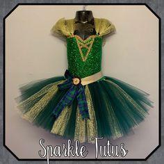 Merida Brave inspired tutu birthday party dress - 1-3