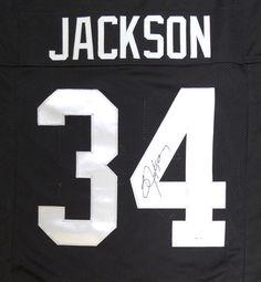 Oakland Raiders Bo Jackson Autographed Black Jersey PSA/DNA