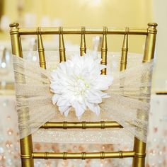Cover every detail at your #wedding w/ these chic #champagne chair accents: http://spr.ly/6017fsZc  #MOB #MOH