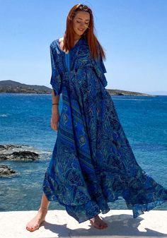 Φόρεμα Miss Pinky maxi ethnic silk - Miss Pinky Ethnic, Cover Up, Silk, Womens Fashion, Dresses, Clothes, Vestidos, Outfits, Clothing