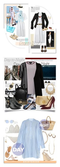"""""""Winners for Day to Night: Shirt Dress"""" by polyvore ❤ liked on Polyvore featuring Forever 21, Jill Stuart, J.Crew, Hermès, Gianvito Rossi, Moschino, Balenciaga, Alice + Olivia, Lagom and DayToNight"""