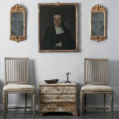 Pair of 18th Century Swedish Gustavian Chairs | 1stdibs.com