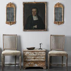 Pair of 18th Century Swedish Gustavian Chairs | 1stdibs.com