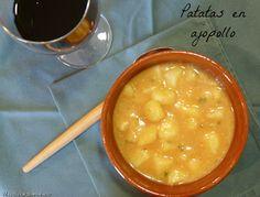 Patatas en ajopollo, del blog Mas dulce que salado