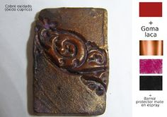 Pequeñeces: Efectos metálicos con pinturas acrílicas Decoupage, Mixed Media, Diy Crafts, Fabric, Painting, Arabesque, Necklaces, Acrylic Paintings, Art Sculptures