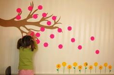 Spring mural. Bed Rested Teacher: Return with 50 Spring Crafts and Snacks!