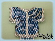 Small peyote-beaded shirt