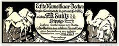 Original-Werbung/Inserat/ Anzeige 1916 - KAMELHAAR-DECKEN EULITZ LEIPZIG - ca. 115 x 45 mm
