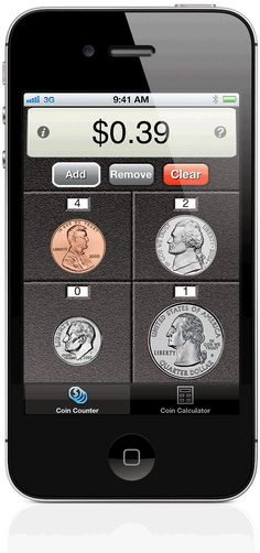 Assistive technology for math visual-coin-calc- app for counting coins. This would be helpful for students struggling to add money. Teaching Money, Teaching Tools, Teaching Math, Teaching Ideas, Second Grade Math, 4th Grade Math, Math Classroom, Kindergarten Math, Preschool