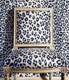 Schumacher's Iconic Leopard in inky blue.  Love!