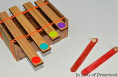 42 Spledidily creative homemade musical instruments for kids! #homemade #DIY #music #musicalinstruments #preschoolactivities