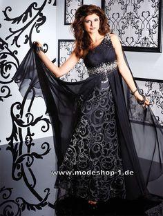 Designer Abendkleid Lang in Schwarz 186 €  www.modeshop-1.de