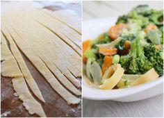 Pasta mit sommerlicher Gemüse-Sahne-Soße Rezept zum Selbermachen…