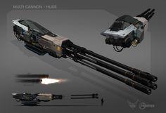 ArtStation - Multi cannon - Huge, Thomas Long
