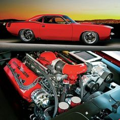 The Gen II Hemi under the hood of Paul Lee's 'Cuda peaked the dyno strain gauge. - Provided by Hotrod Dodge Charger Hemi, Dodge Challenger Srt Hellcat, Plymouth Barracuda, Super Sport Cars, Pony Car, Hot Rides, American Muscle Cars, Mopar, Cool Cars