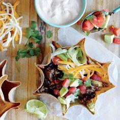 Recipe Makeover: Beef and Bean Taco Salad | CookingLight.com
