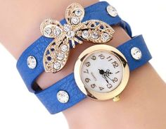 Casual Butterfly Wrist Watch - Blue