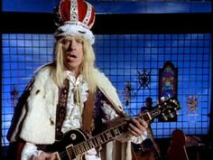 "Spinal Tap - The Majesty Of Rock - Oh snap, this is spot on, so perfect. The video is hilarious, the music so bad it's good, deadly accurate - I like the Great Wall of China-sized Marshall stack and those lyrics  - ""we're in this to-ge-therrr, and e-e-verrr..."""