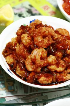 Mochachocolata-Rita: Fried Shrimps with Indonesian Sweet Soy Sauce - Udang Goreng Tepung Saus Kecap Manis