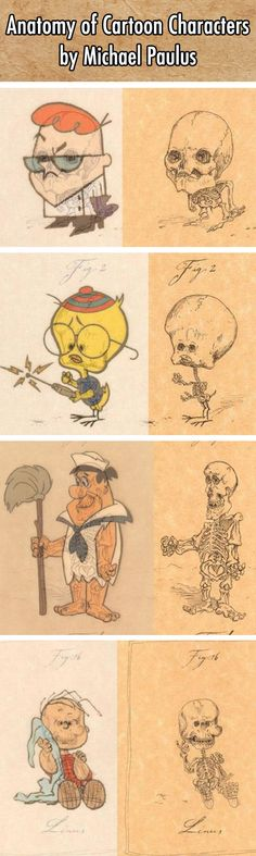 Skeletons Of Your Favourite Cartoon Characters Will Ruin Your - Skeletons favourite childhood cartoon characters
