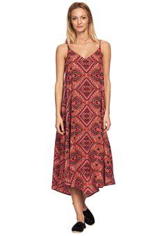 bda1ac37211d7a A beautiful printed flowy hanky hem dress  amp  strappy sandals is the new  summer dress