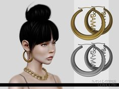 Bama Earrings by LeahLillith - Sims 3 Downloads CC Caboodle