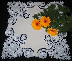 Advanced Embroidery Designs. Feather FSL Doily.