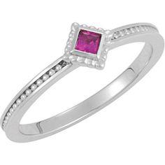 Siemer Jewelers - Stuller 71520 - Customizable Stackable Birthstone Ring