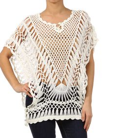 Play up your free-spirited side in this open-knit sweater. The sheer design shows off pretty bottom layers, and side ties let you fine-tune the look.   100% acrylicMachine washImported