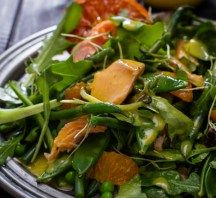 This recipe for baked salmon salad with citrus dressing is fresh, healthy and sublimely delicious. Change out the vegetables to use what is in season, making this salad recipe easily transitional from winter to spring.