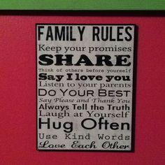 Great life family motto