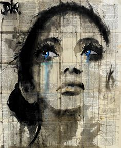 Buy Prints of fields...., a Ink on Paper by LOUI JOVER from Australia. It portrays: Women, relevant to: jover, woman, collage, contemporary, drawing, eyes, face, ink ink/gouache on vintage book pages