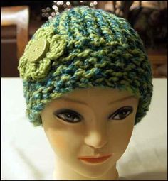 Loom Knit Hat - not crocheted but I want to see more of what looms do - looks interesting - Maybe a new hobby????
