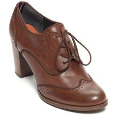 Tommy Hilfiger Heeled Oxford ($89) ❤ liked on Polyvore featuring shoes, oxfords, boots, heels, oxford, zapatos, real leather shoes, cushioned shoes, leather oxfords and leather oxford shoes