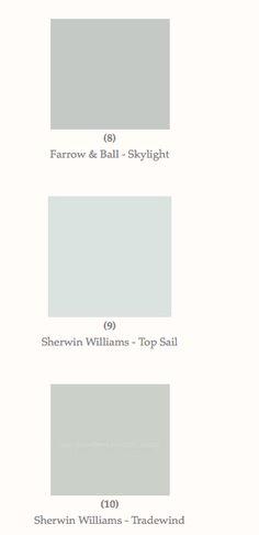 Phoebe's Top Ten: Light Blue Paint Colors