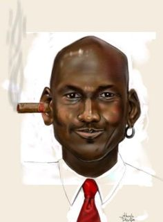 Caricaturas Michael Jordan ~ NBA TSEBA Michael Jordan, Jordan 23, Derrick Rose, Kevin Durant, Kobe Bryant, Miami Heat, Lebron James, Funny Caricatures, Celebrity Caricatures