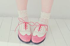 Pink and girly shoes