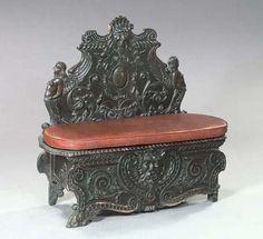 Cassapanca -  a carved bench of the Italian Renaissance