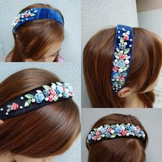 How To Make Headbands, Baby Headbands, Handmade Headbands, Pearl Headband, Headpiece Wedding, Metal Hair Clips, Diy Bow, Diy Hair Accessories, Fabric Jewelry