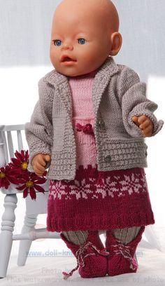 Modèle de tricot pour poupée