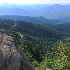 When the only thing between me and a >1000ft drop is a couple twigs and the edge of a rock  #BlueRidgeParkway #NorthCarolina