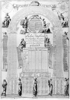 In 1793, revolutionary France introduced a new calendar. The year was divided into 12 newly-named months, each of 30 days, (+5 extra days). ...