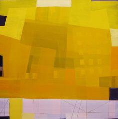 """Yellow I "" Painting by Karin Hay White"