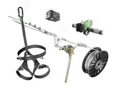 The SLEADD 250 Zip Line Kit includes 250-ft spool of cable with built-in installation tool, trolley with ultra grip handles, riding gear and stop block.