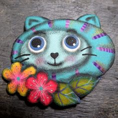Help cat (this cat brooch is sold, and full amount is going to Vlčáry dog asylum of Rudolf Desenský)  Each month one of my brooches will help to this amazing  dog home.