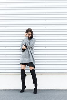 Over the knees boots. #streetstyle #fashion #trend