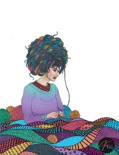 Knitting by Wassermoth on deviantART