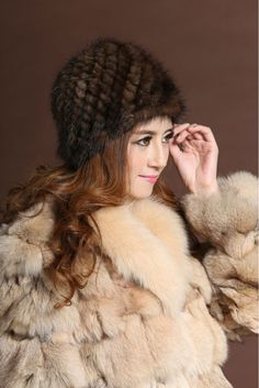 Winter mink fur hat for women genuine natural fur Pineapple cap Russian beanies hat 2016 fashion good quality thick fur hats