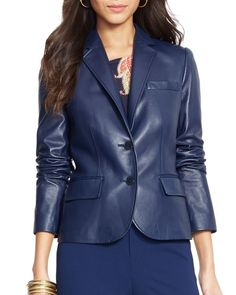Lauren Ralph Lauren Leather Blazer